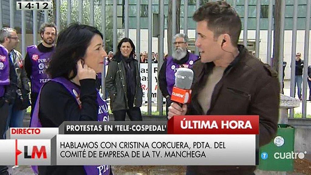 Los trabajadores de 'Castilla - La Mancha Tv', en huelga por la gestión de la cadena