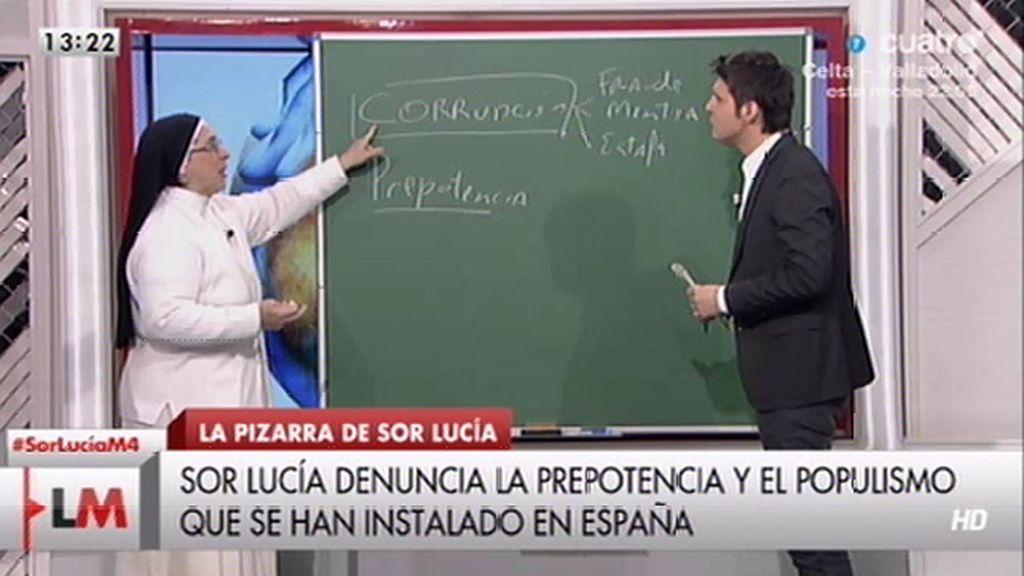 Sor Lucía Caram señala los 'pecados' de corrupción, soberbia y prepotencia