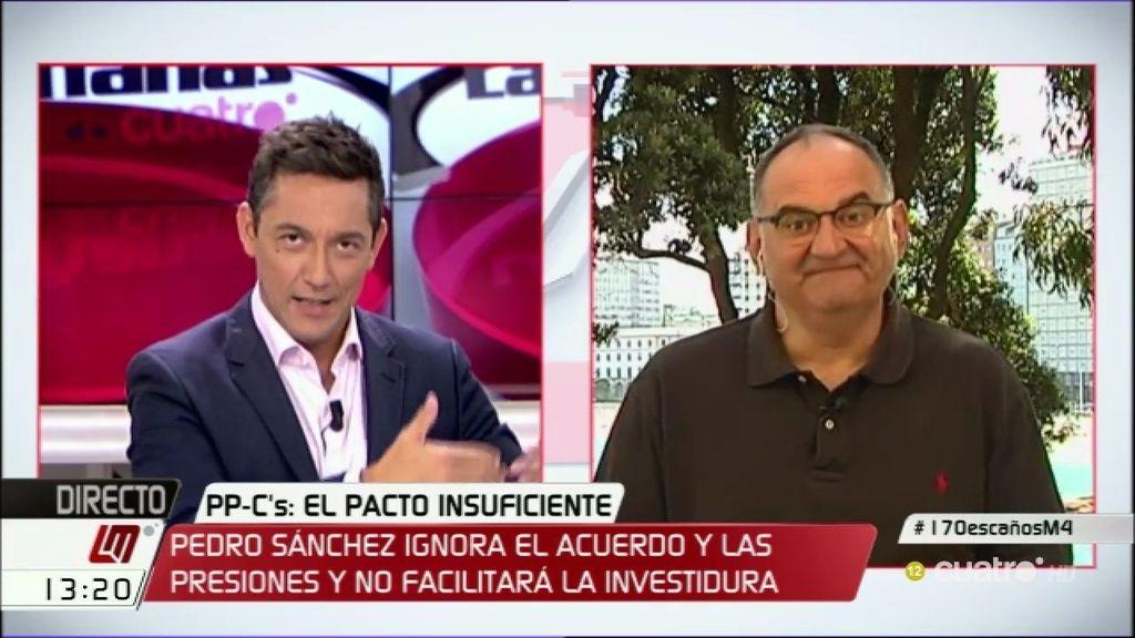 """Antón Losada: """"Rajoy y Rivera quieren que Sánchez sea el pagafantas"""""""