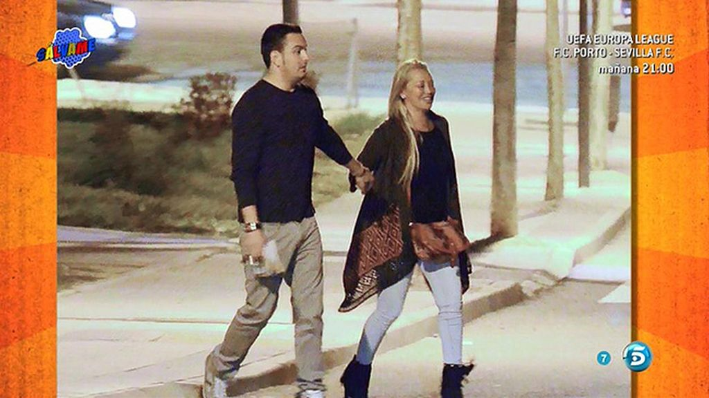 Belén y su novio Miguel, muy felices