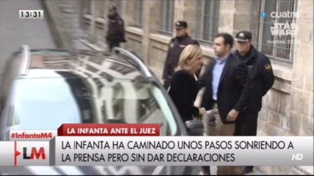 """Infanta Cristina, ante el juez Castro: """"Yo confiaba en mi marido"""""""