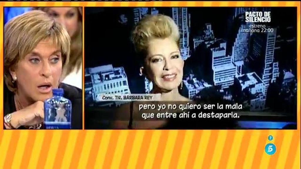 """Bárbara Rey: """"Sé que Chelo, a mis espaldas, también ha hecho comentarios de mí"""""""