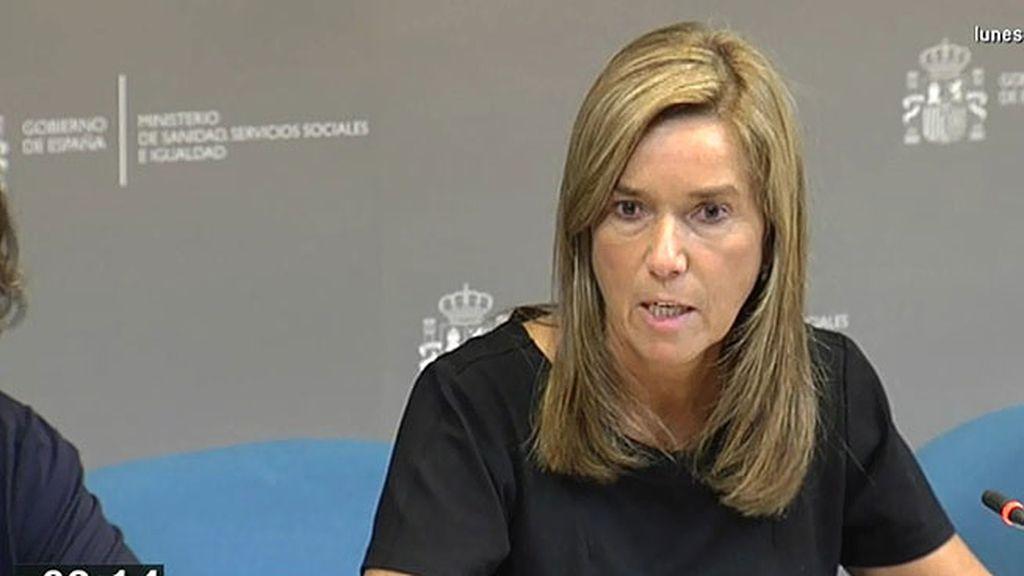Ana Mato confirma el primer caso de contagio de ébola en España