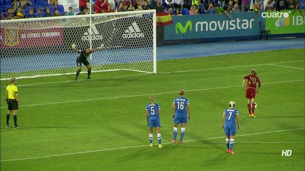¡Gol de España! Irene Paredes transforma el penalti provocado por Amanda