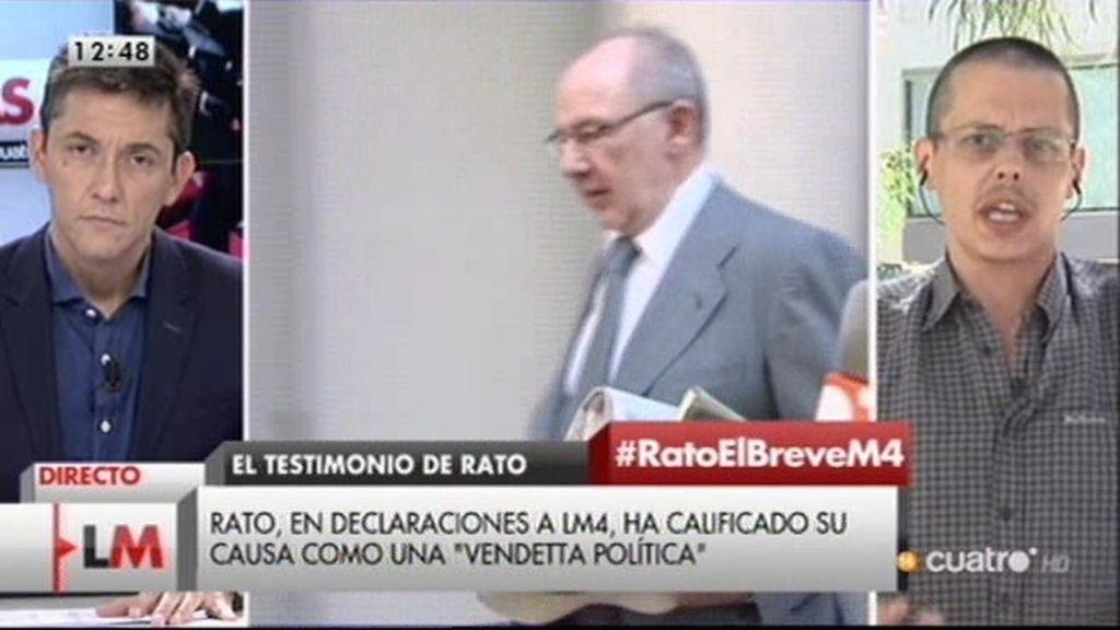 "Sergio Salgado: ""No vamos a consentir que se utilice a Rato como chivo expiatorio"""