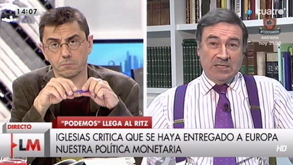 """Pedro J.: """"Podemos representa al 9%, a mí me importa 10 veces más lo que pasa con el resto del espectro político"""""""