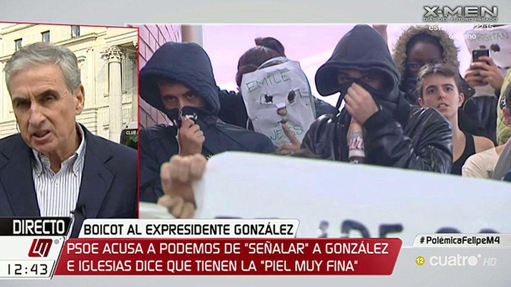 "Ramón Jáuregui: ""Las protestas contra Felipe González son puro fascismo rojo"""
