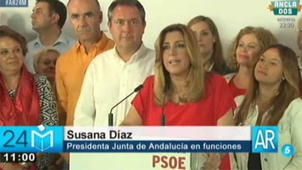 """S. Díaz: """"El batacazo del PP en Andalucía tiene relación con su actitud irresponsable en el Parlamento"""""""