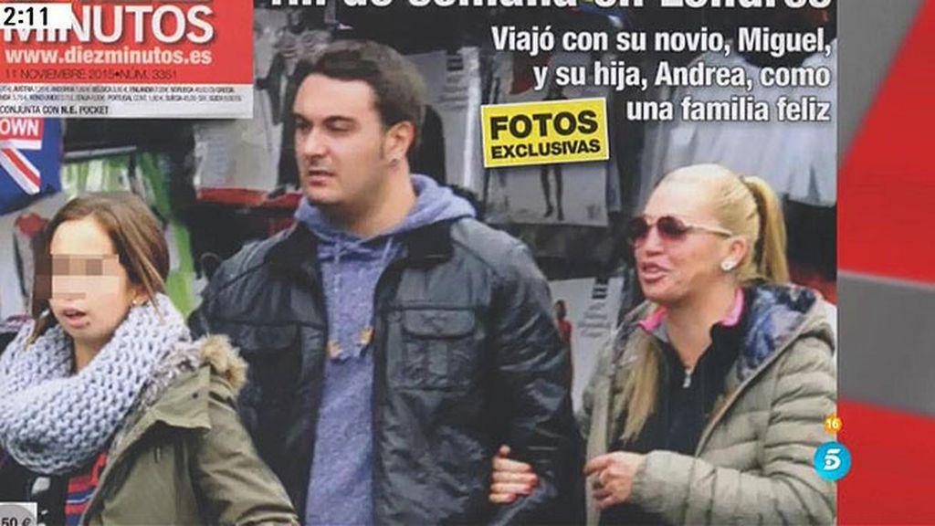 Belén, Miguel y Andrea, felices y en familia por las calles de Londres
