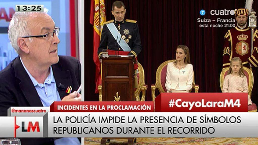 """C. Lara: """"Se ha heredado la jefatura del Estado como quien hereda una propiedad"""""""
