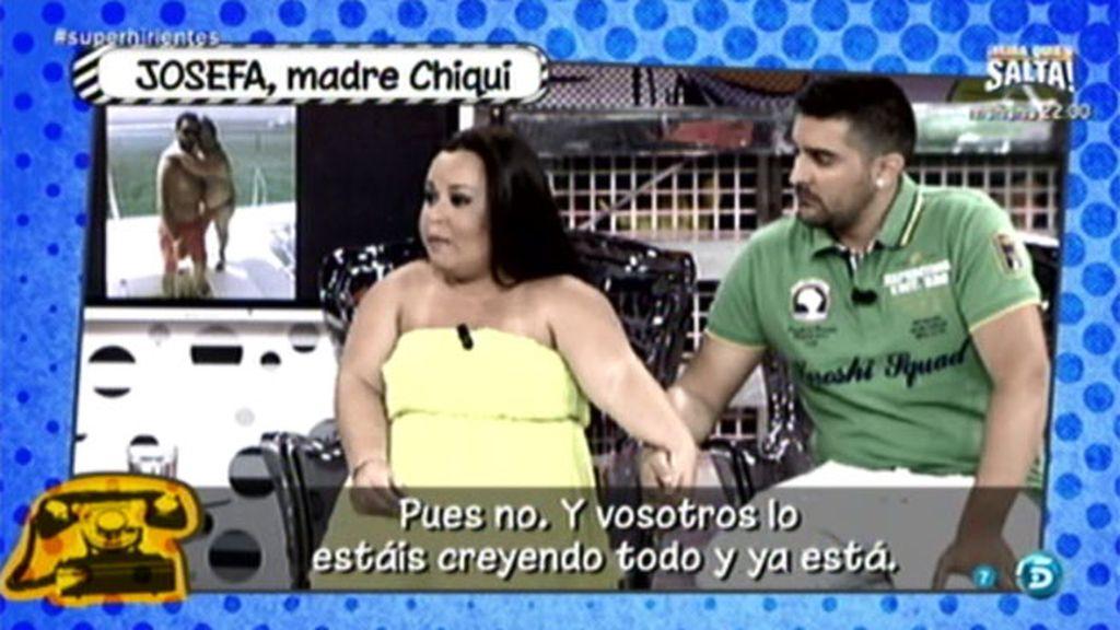La madre de Chiqui niega que ella y Borja, su marido, estén haciendo un montaje