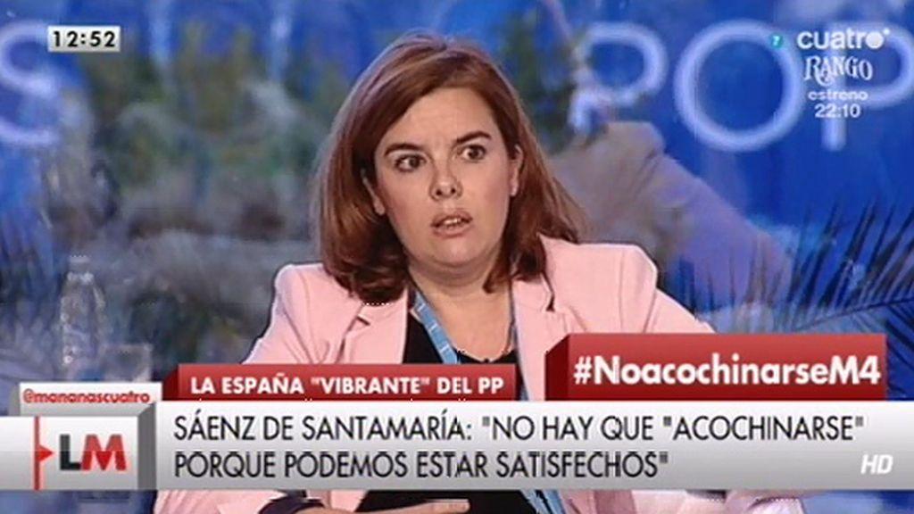 """Santamaría: """"No hay que acochinarse, podemos estar satisfechos"""""""