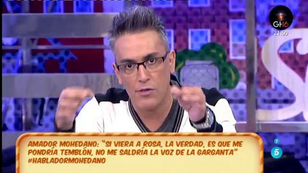 """Kiko Hernández: """"Amador Mohedano está bajo cero, cero, cero"""""""