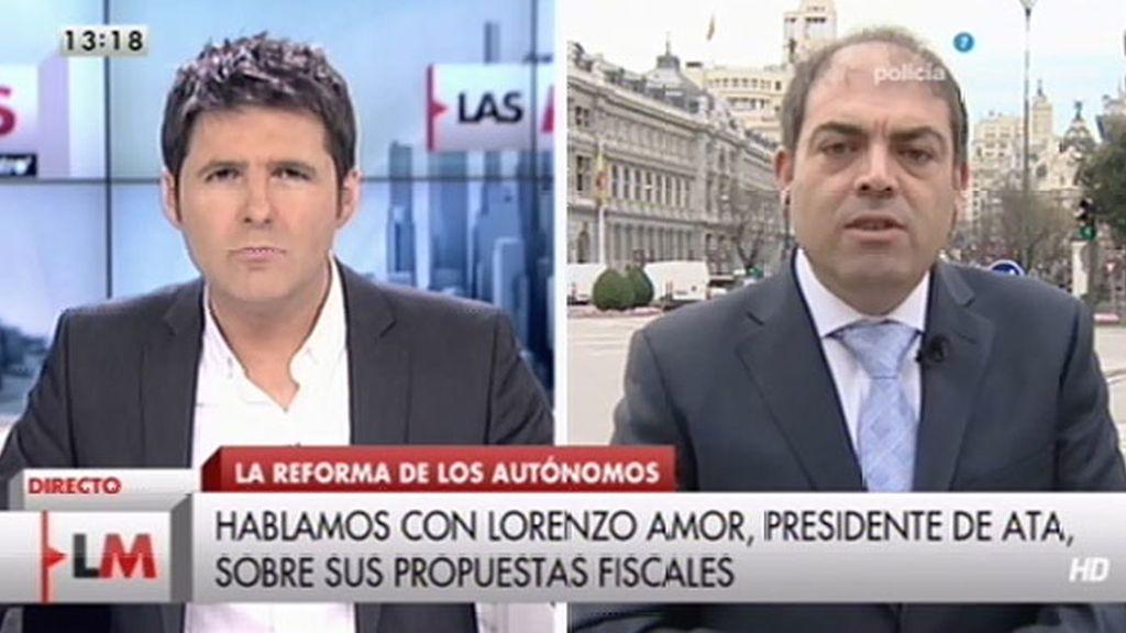 """Lorenzo amor: """"Más importante es que bajen los impuestos a la ciudadanía"""""""