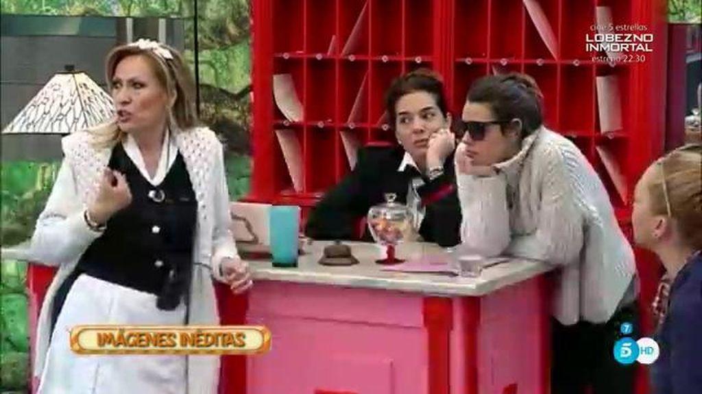 """Rosa Benito y Raquel Bollo se enfadan con Carlos Lozano por """"vago"""""""