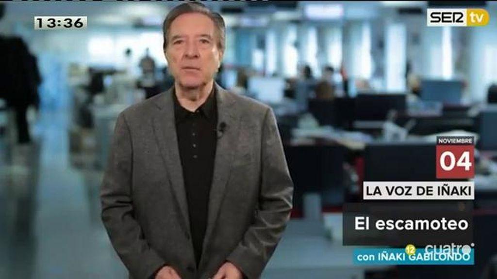 """Iñaki Gabilondo: """"En virtud del proceso soberanista catalán, los españoles hayan visto desparecer los temas que les afectan"""""""