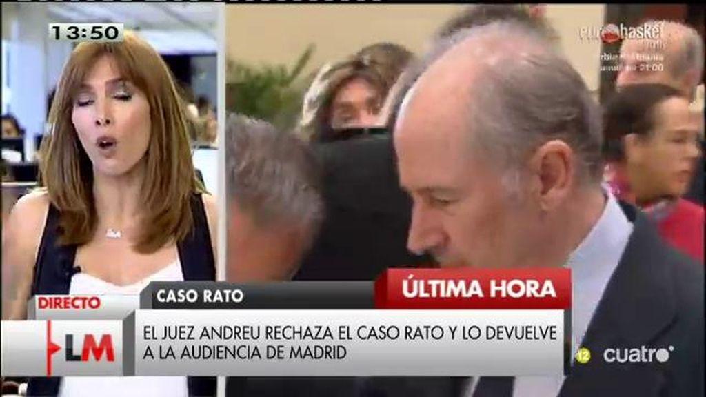 El juez Andreu rechaza el caso Rato y lo devuelve a la Audiencia de Madrid