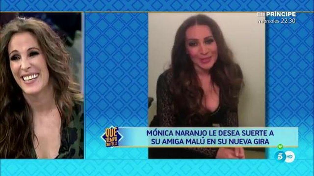 """Mónica Naranjo sorprende a Malú: """"Eres tan valiente, y tan bonita por dentro y por fuera"""""""