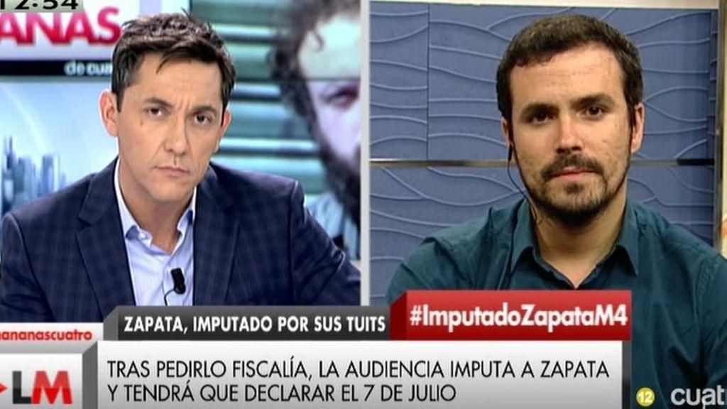 """Alberto Garzón: """"El PP está intentando hacer un 'Tamayazo' por la vía de la justicia"""""""