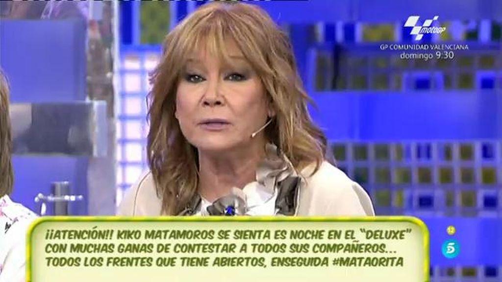 "Mila Ximénez, sobre Diego Matamoros: ""No he visto a nadie más triste, mucha pena"""