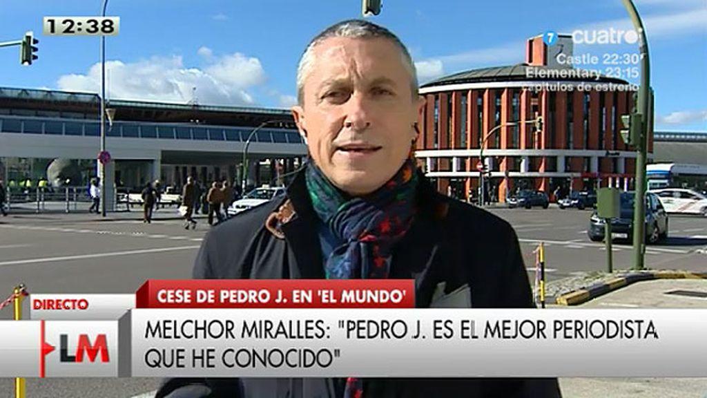 """M. Miralles, sobre Pedro J.: """"Es una decisión empresarial que tiene un trasfondo político"""""""