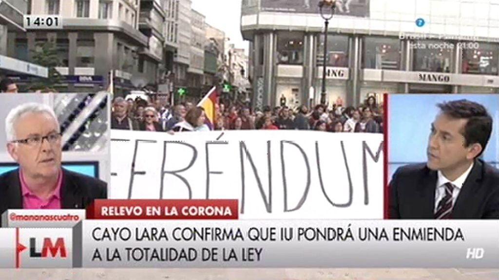 """Cayo Lara, tras la abdicación: """"Vamos a presentar una enmienda a la totalidad"""""""
