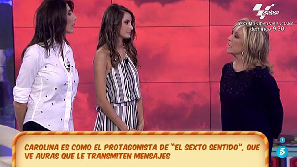 """Carolina: """"La energía de Lydia Lozano es muy fuerte y es un familiar"""""""