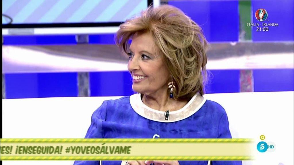 Teresa Campos vuelve al plató de Sálvame totalmente recuperada de su operación
