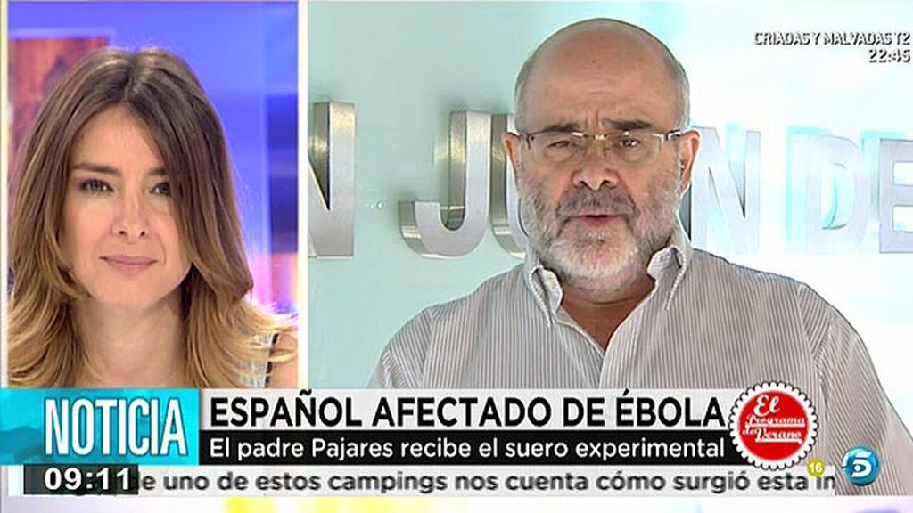 """José María Aviadero, portavoz Orden San Juan: """"Un técnico contagiado de ébola presenta síntomas de mejora"""""""