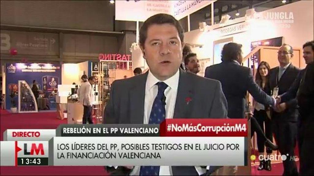 """Emiliano García-Page: """"En el PSOE cerramos filas en torno a Pedro Sánchez"""""""