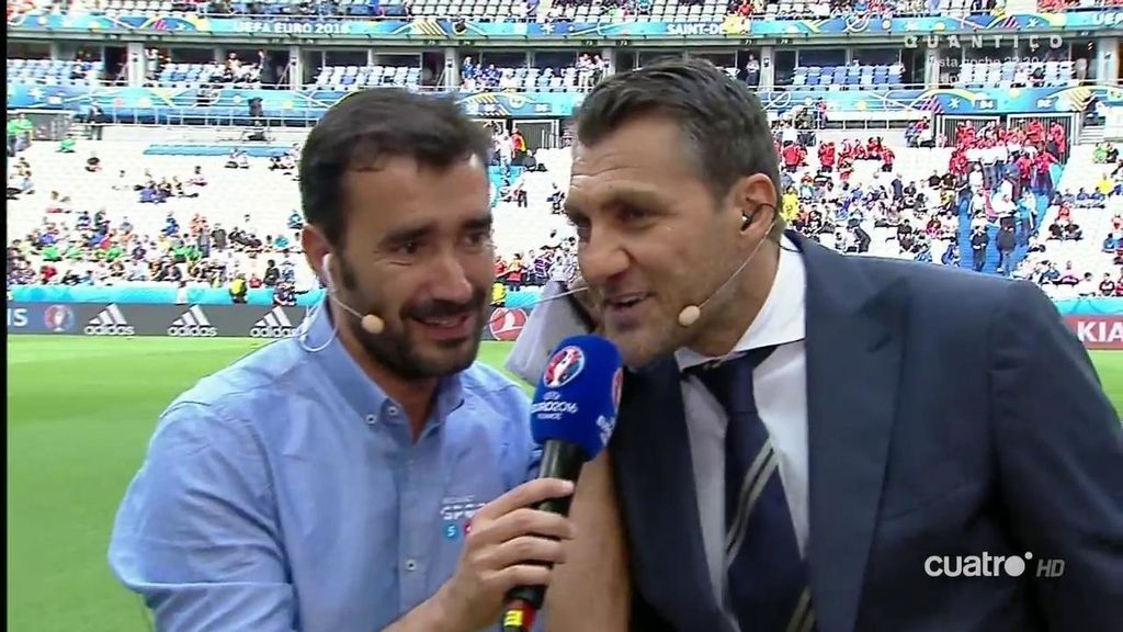 """¡Momentazo! Vieri le canta el """"Kiko gol"""" a Kiko en los micrófonos de Mediaset"""
