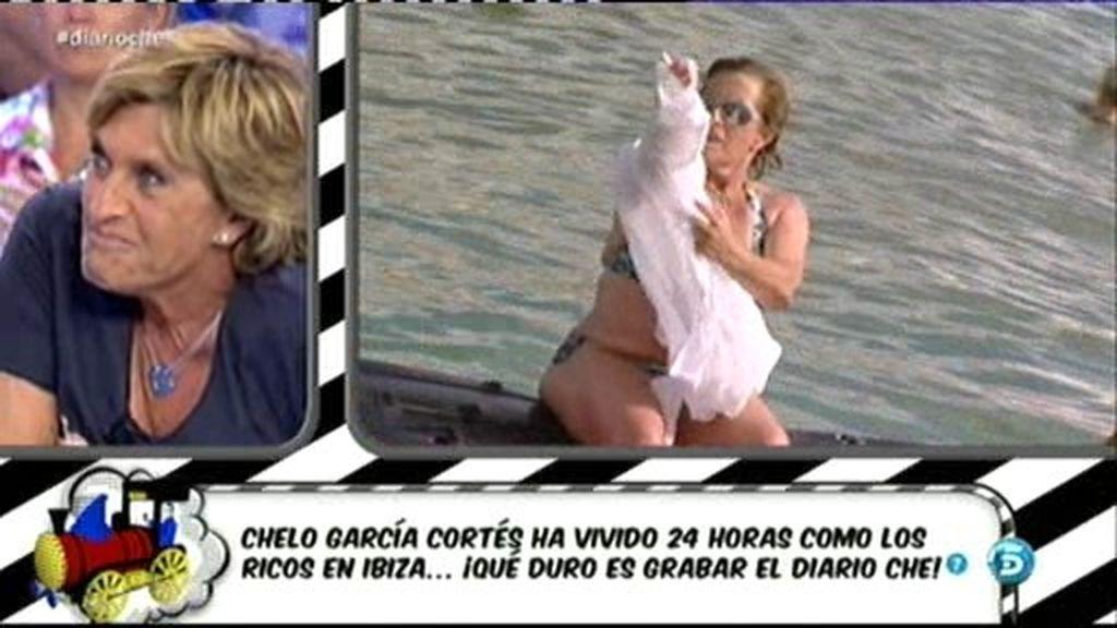 La foto: ¡Chelo García Cortés en bikini!