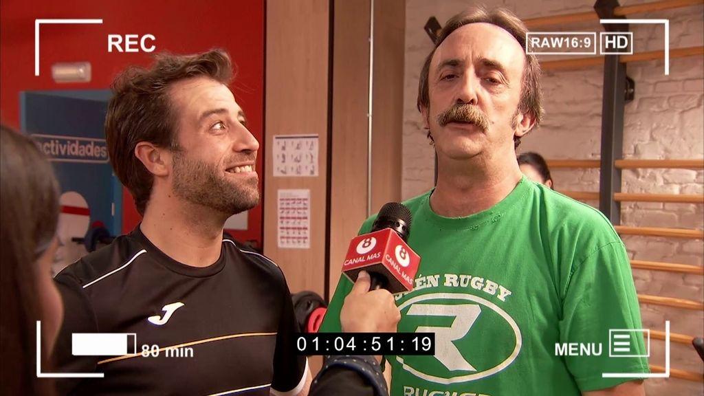 La tele le hace un reportaje a Cristóbal