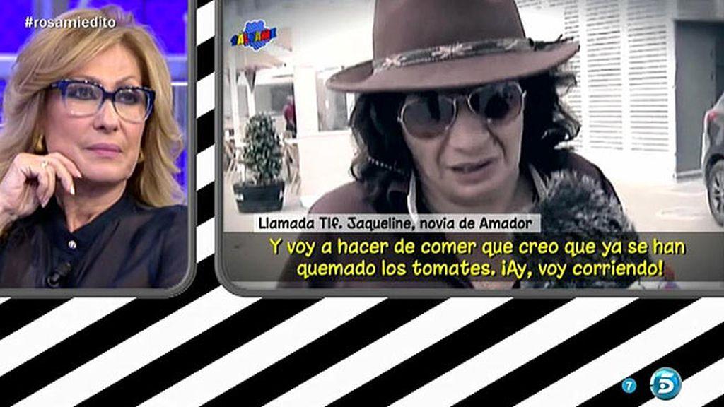 """Rosa, tras escuchar a Jacqueline: """"Las amigas de Amador no son mis amigas"""""""