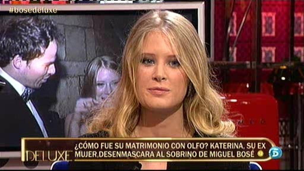 """Katerina, ex de Olfo Bosé cuenta su """"horror de matrimonio"""" con el sobrino de Miguel Bosé"""
