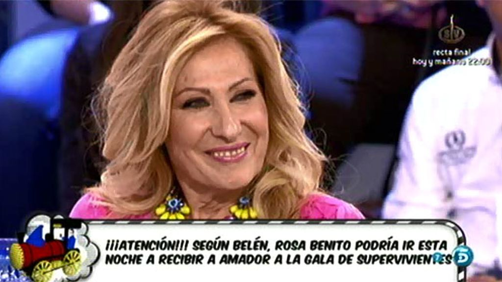 "Rosa no va a ir al plató de 'SV' a recibir a Amador Mohedano: ""No es mi sitio"""
