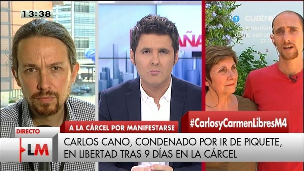 """Carlos, en libertad: """"He visto gente que está en la cárcel de forma injusta"""""""