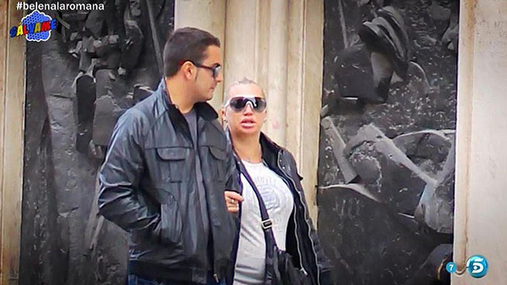 Así fueron las vacaciones de Belén Esteban y su novio Miguel en Roma