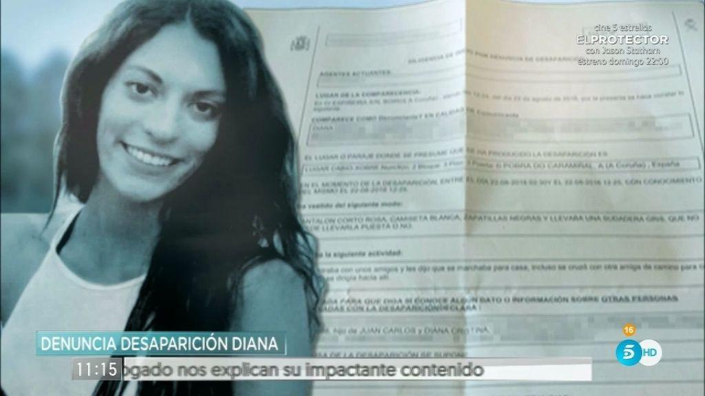 'AR' tiene acceso a la denuncia de la madre de Diana Quer tras la desaparición