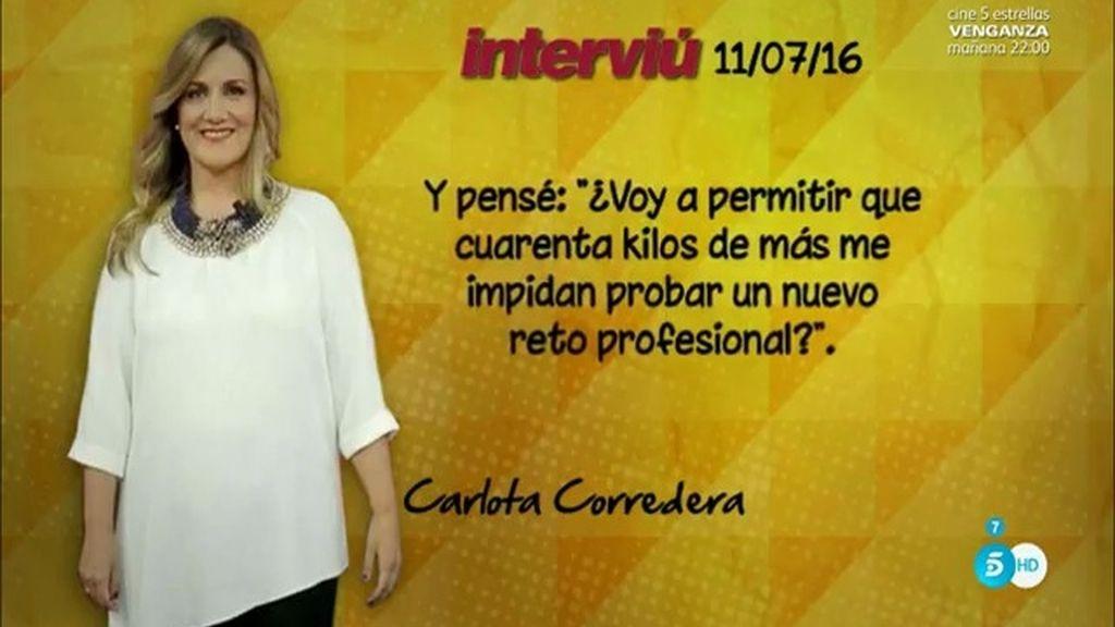Carlota Corredera, un ejemplo de superación