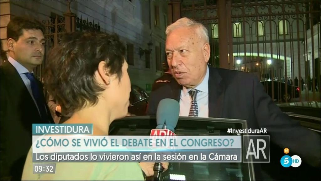 """García-Margallo: """"Rajoy ha estado espectacular en su discurso"""""""