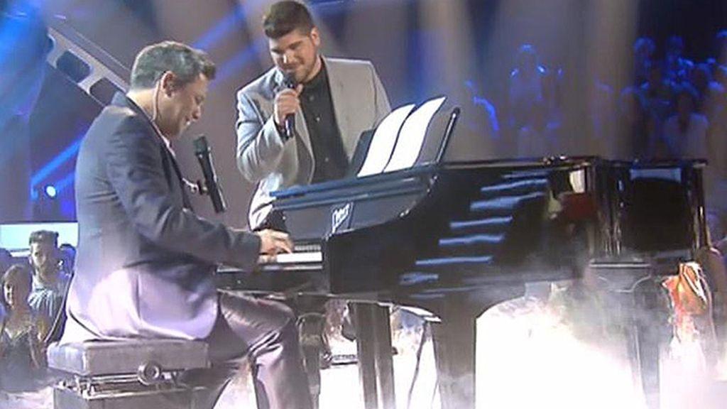 Alejandro Sanz canta con Marcos 'Lo ves'