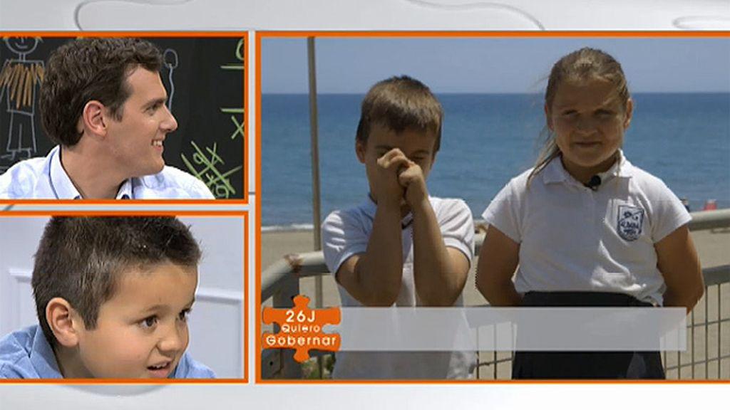 """Lo que piden los niños a Ciudadanos: """"Albert Rivera, por favor, que se acaben los deberes"""""""