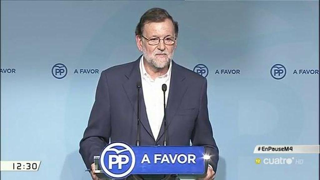 La sorpresa tras las palabras de Rajoy