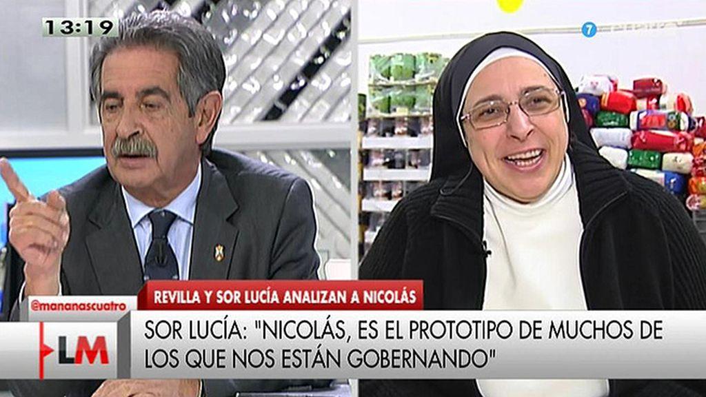 """Sor Lucía: """"Francisco Nicolás es el prototipo de muchos de los que nos están gobernando"""""""