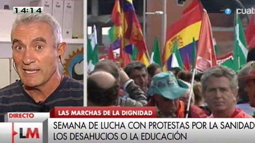 """Cañamero: """"Lo importante es que el pueblo salga a la calle masiva y pacíficamente para decirle a este gobierno que se vaya"""""""