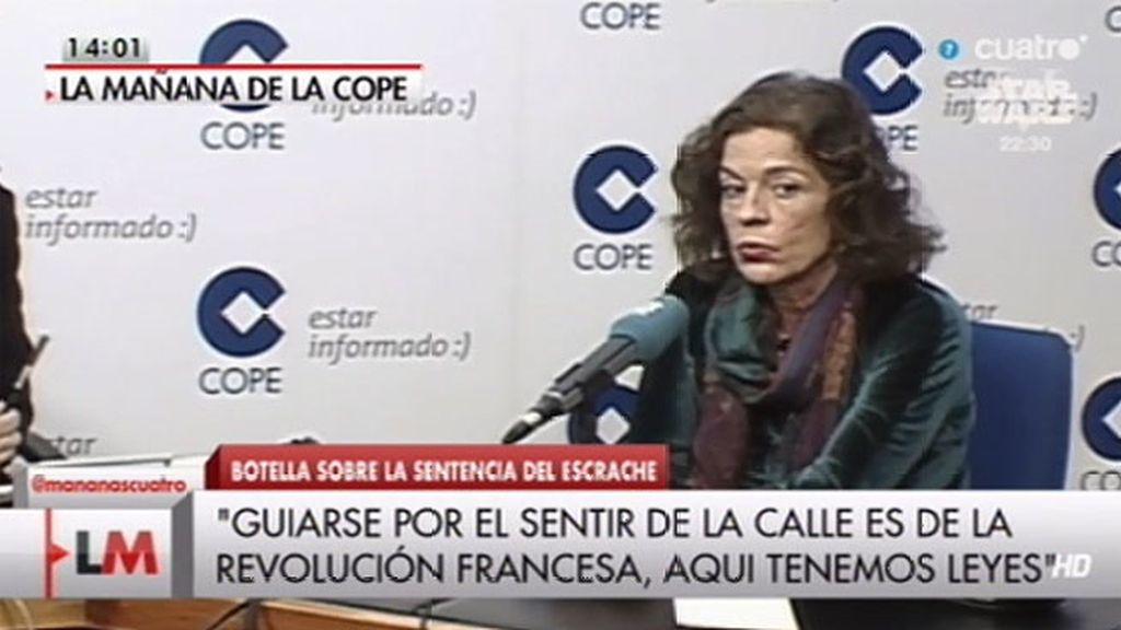 """""""Dicen que se tienen que guiar por el sentir de la calle, eso era en la revolución francesa"""""""