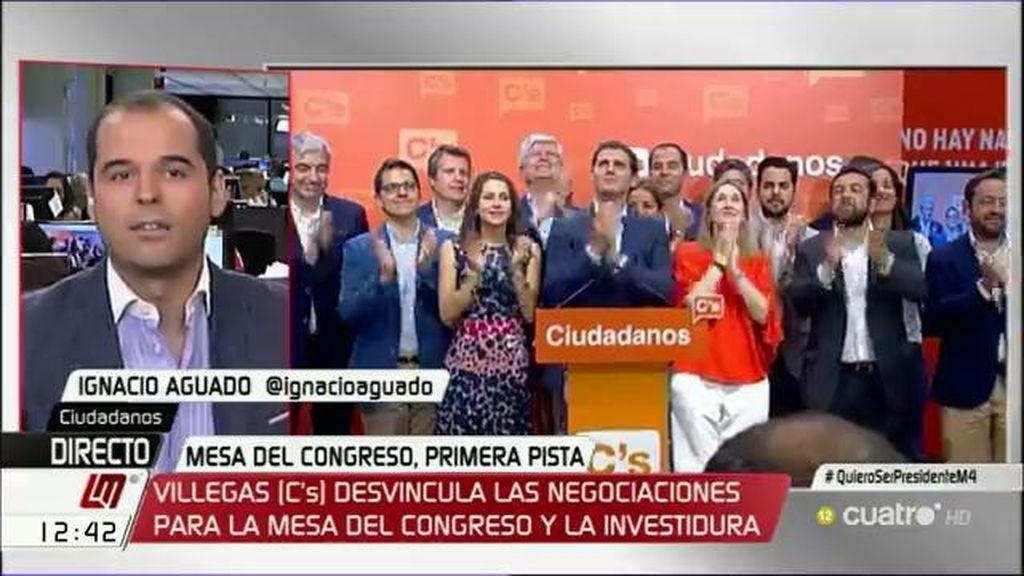 """Ignacio Aguado (Ciudadanos): """"Decimos 'no' al intercambio de cromos"""""""