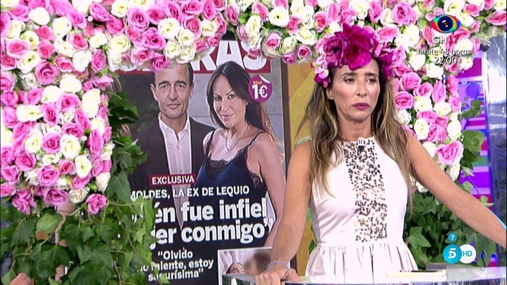 Sonia Moldes afirma en 'Lecturas' que estuvo con Lequio cuando ya estaba con María