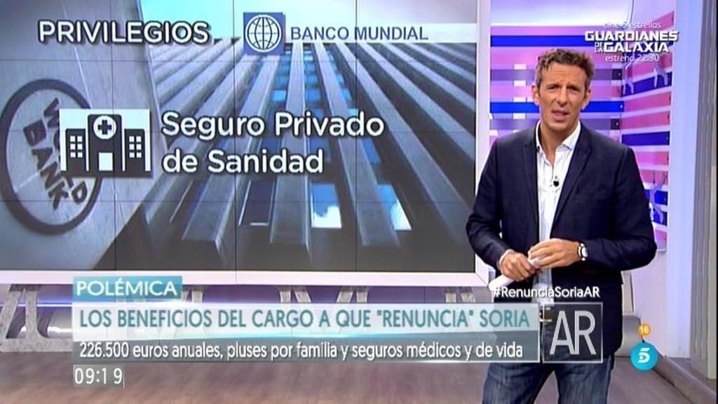 """Soria cobraría más de 226.500 euros anuales por el puesto al que """"renuncia"""""""
